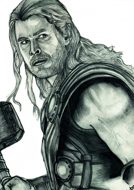 Stunning Pencil Sketch Of Thor Techniques for Beginners Thor Sketch At Paintingvalley | Explore Collection Of Thor Sketch Image