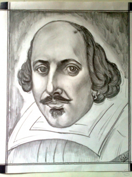 Pencil Sketch Of William Shakespeare