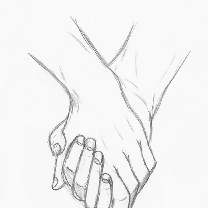 Pencil Sketches Of Couples Holding Hands