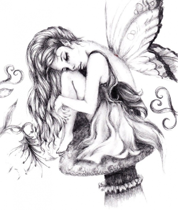 Stunning Pencil Sketches Of Fairies And Angels Courses Beautiful Pencil Drawings Of Fairies  | Anime Couples Drawings In Images