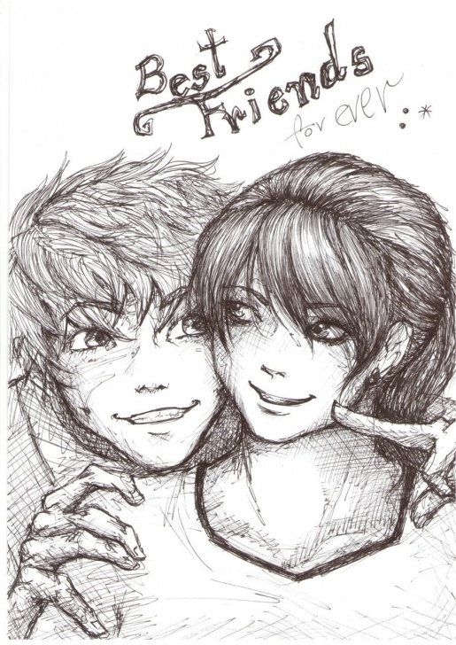 Stunning Pencil Sketches Of Friends Forever Techniques Image Result For Sketches Of Best Friends Forever Boy And Girl Photos