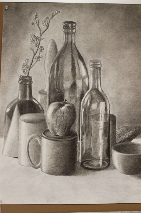 Stunning Pencil Still Life Lessons Charcoal Still Life I Like The Shading Used To Develope The Realism Photos