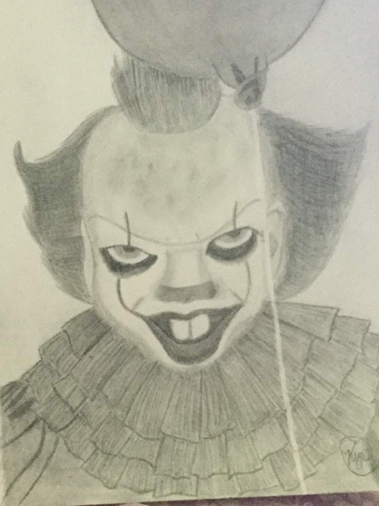 Stunning Pennywise Pencil Drawing Free Pennywise Pencil Drawing | Art Amino Picture