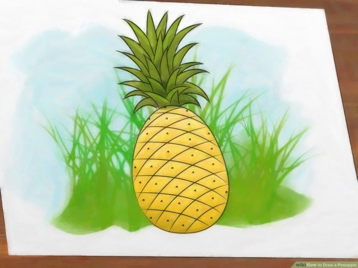 Stunning Pineapple Pencil Drawing for Beginners How To Draw A Pineapple: 9 Steps (With Pictures) - Wikihow Photo
