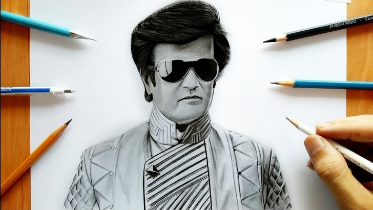 Stunning Rajinikanth Pencil Drawing Tutorials 2.0 Rajinikanth Drawing Images