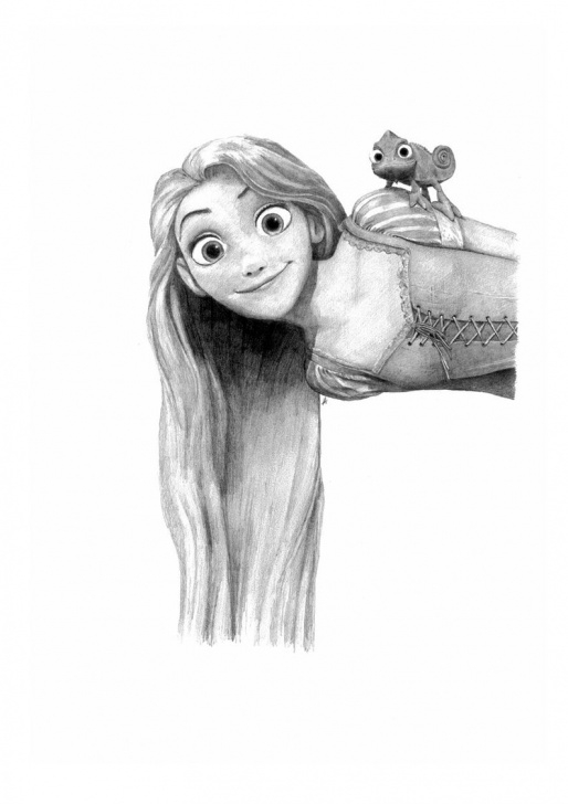 Stunning Rapunzel Pencil Drawing Ideas Tangled - Rapunzel Pencil Drawing Picture