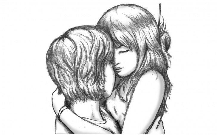Stunning Romantic Sketch Drawing Step by Step Cute Love Drawings Pencil Art |Hd Romantic Sketch Wallpaper | Love Pics
