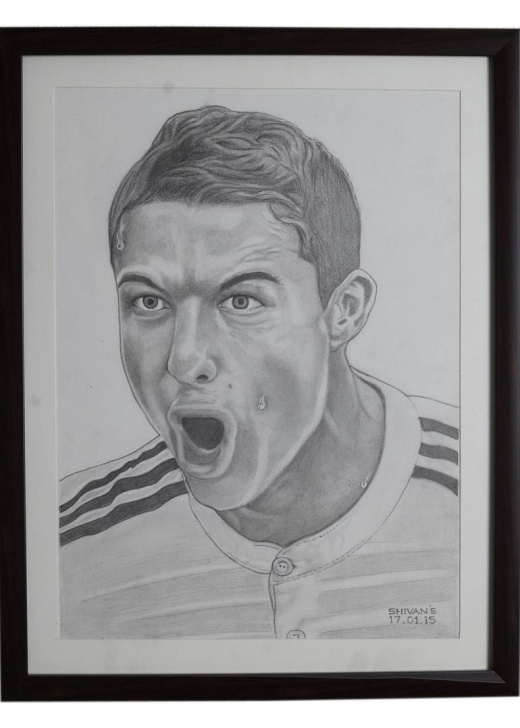 Stunning Ronaldo Pencil Drawing Techniques for Beginners Pencil Portrait Of The Professional Footballer Cristiano Ronaldo Image