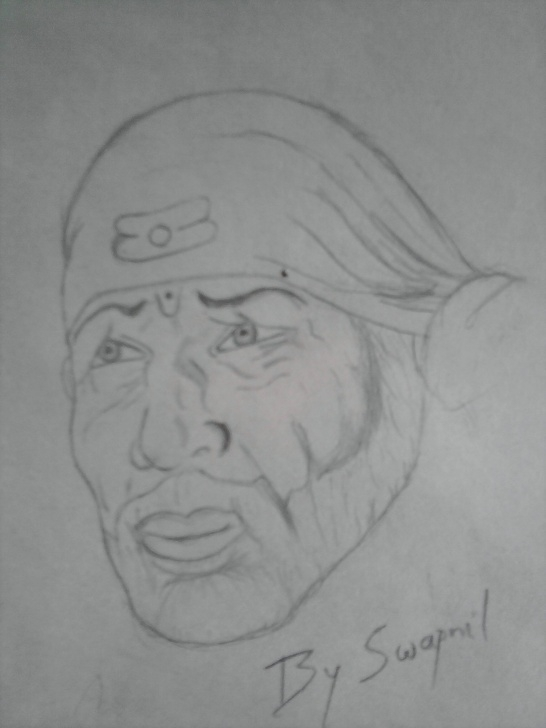 Stunning Sai Baba Pencil Sketch Tutorials Pencil Sketch Of Sai Baba | Desipainters Picture