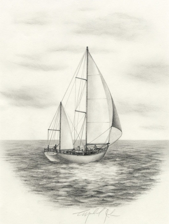 Sailboat Pencil Drawing