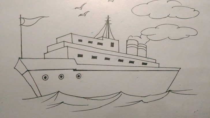 Stunning Ship Pencil Sketch Courses How To Draw A Ship Step By Step Tutorial For Kids Photo