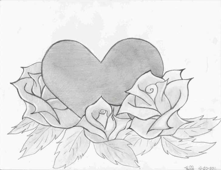 Stunning Simple Love Sketches Tutorial Sketches Simple Love Hd Easy Rhdrawingslycom Pencil Love Heart Photo