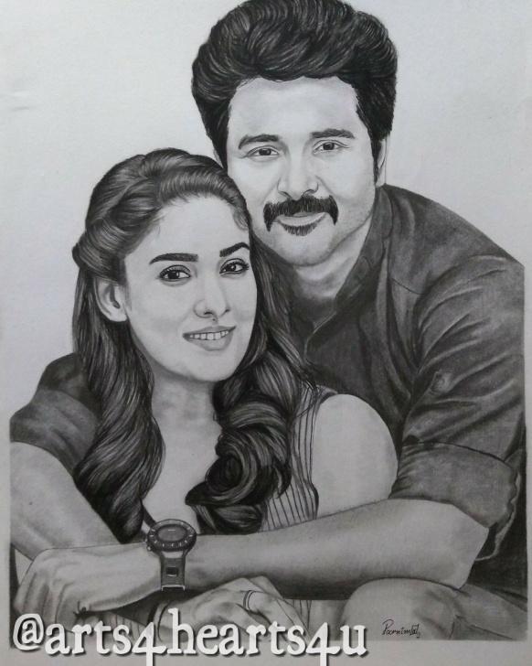 Stunning Sivakarthikeyan Pencil Drawing Techniques Velaikaran #sivakarthikeyan #nayanthra | Pencil Sketching In 2019 Pictures