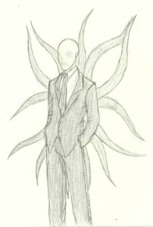 Stunning Slender Man Drawings In Pencil Easy Slender Man Drawings | Scary Drawings Of Slender Man Slender Man By Pics