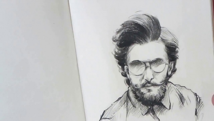 Stunning Small Pencil Sketches Lessons Ranveer Singh - Small Pencil Sketch, Artist - Amar Kale Photos