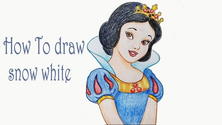Stunning Snow White Pencil Drawing Simple How To Draw Snow White Step By Step Pic