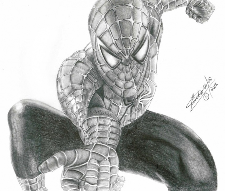 Stunning Spiderman Pencil Art for Beginners Spiderman Drawing Pencil At Paintingvalley | Explore Collection Pic