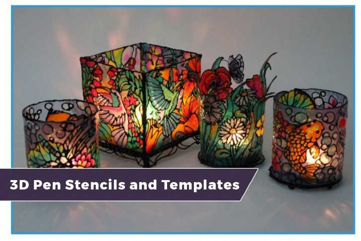 Stunning Stencil Art 3D Ideas 3D Pen Stencils And Templates - Free Downloads Inside Image