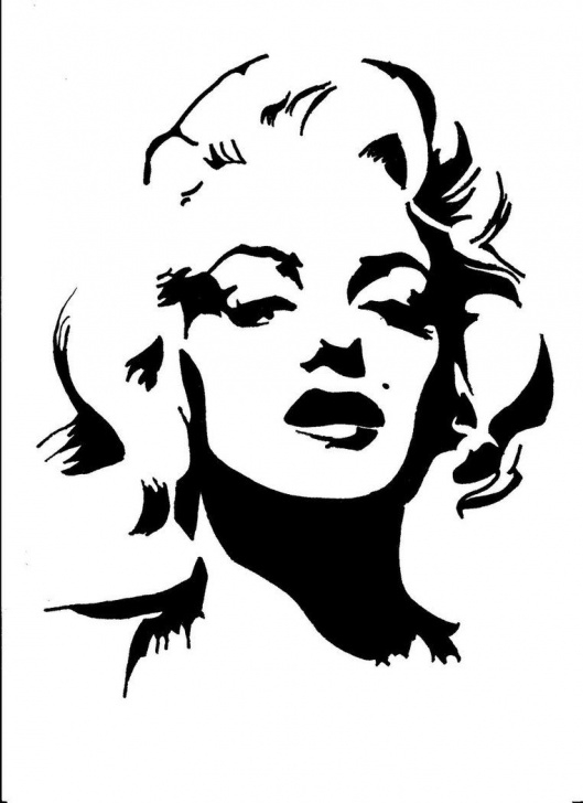 Stunning Stencil Art Black And White Step by Step ❤Marilyn Monroe Art ~*❥*~❤ | ❤Marilyn Monroe Art ~*❥*~❤ In Picture