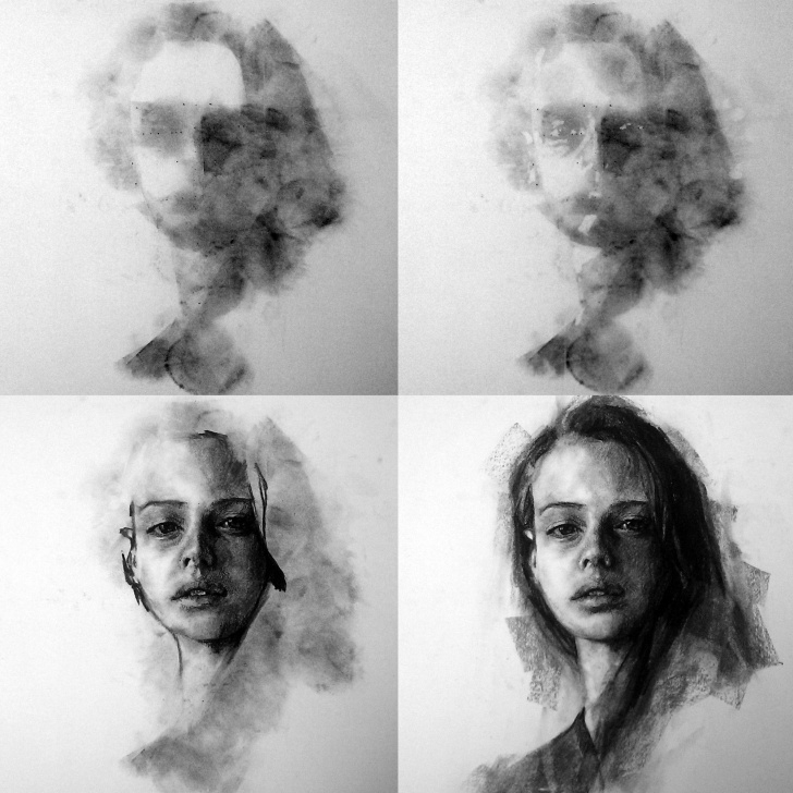 Stunning Step By Step Charcoal Portrait Tutorial My Charcoal Portrait Process And Tools | Art | Charcoal Portraits Photos
