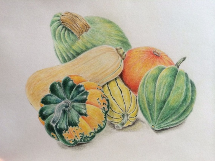 Stunning Still Life Drawing In Colour Pencil Easy Original Colored Pencil Still Life #drawing Seasonal Vegetables By Photos