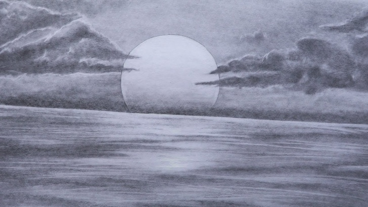 Sunset Drawings In Pencil