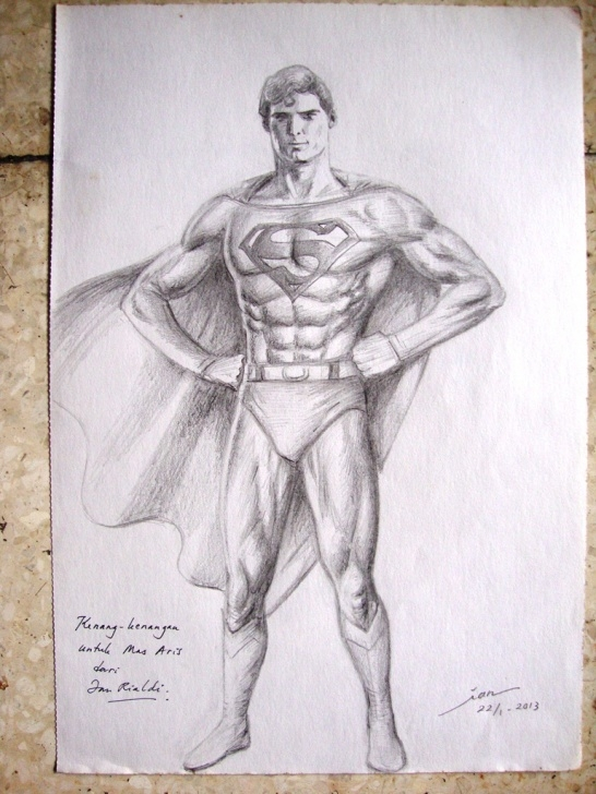 Stunning Superman Pencil Sketch Techniques Superman Drawing In Pencil At Paintingvalley | Explore Photos