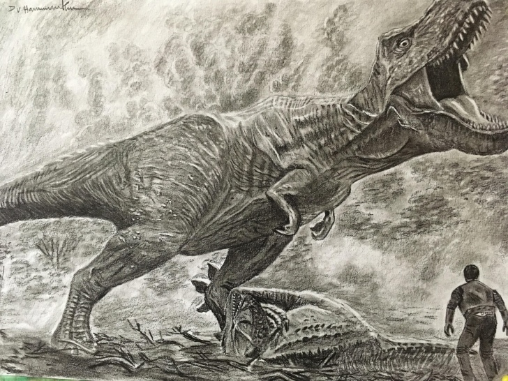Stunning T Rex Pencil Drawing Courses T Rex Pencil Drawing : Drawing Pic