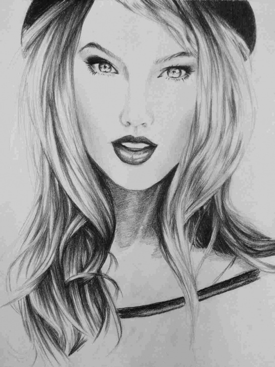 Stunning Taylor Swift Pencil Sketch Techniques for Beginners Taylor Taylor Swift Black And White Drawing Swift Portrait In Pencil Image