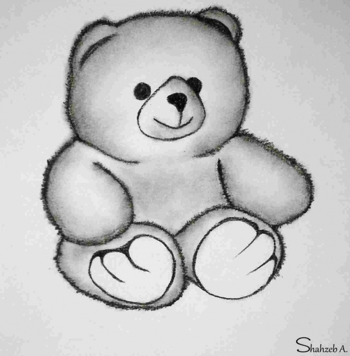 Stunning Teddy Bear Pencil Sketch Techniques Cute Teddy Bear Pencil Drawing | Drawing Work Photo