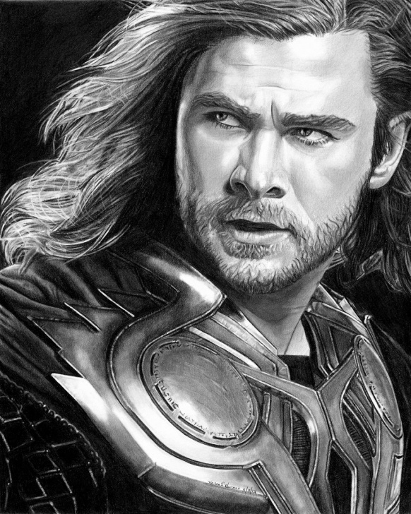 Stunning Thor Drawing In Pencil Lessons Thor Drawing, Pencil, Sketch, Colorful, Realistic Art Images Images
