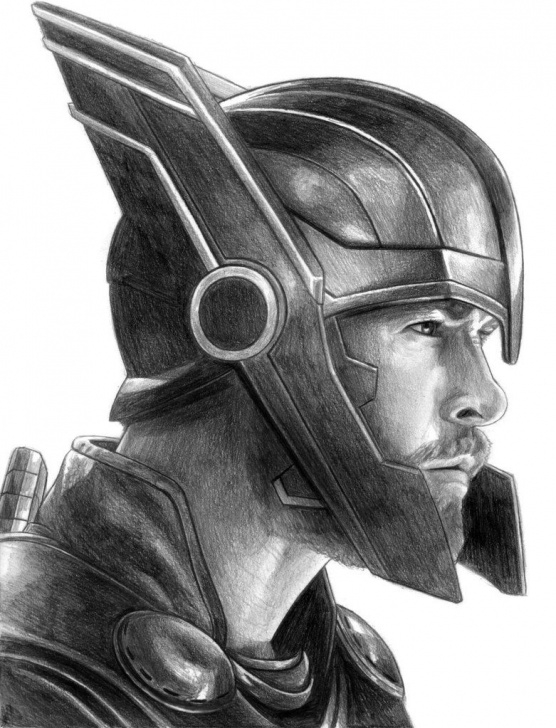 Thor Drawing In Pencil