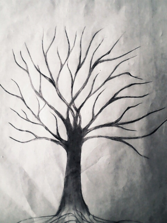 Stunning Tree Pencil Sketch Lessons Leafless Tree, Pencil Drawing From The Past — Steemit Pic