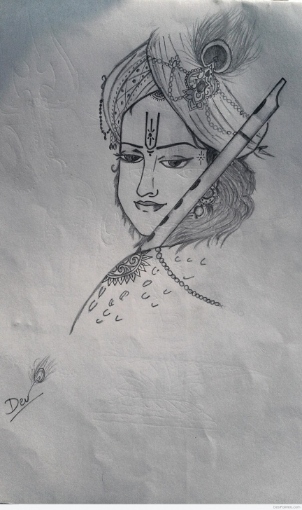 Stunning Vitthal Pencil Sketch for Beginners Lord Paintings | Desipainters Pictures