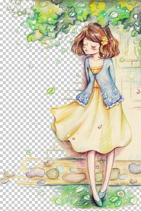 Stunning Watercolor And Colored Pencil Illustration Easy Watercolor Painting Colored Pencil Illustration Png, Clipart, Anime Pictures