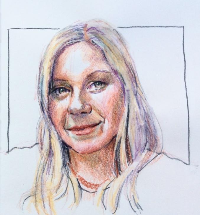 Stunning Watercolor Pencil Portrait Courses 258 Watercolour Pencil Portraits | Ros Jenke Image