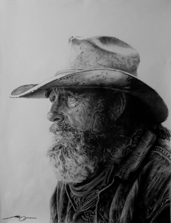 Stunning Western Cowboy Pencil Drawings Ideas Old Cowboy | Pictures I Want To Draw | Cowboy Art, Western Cowboy Pics