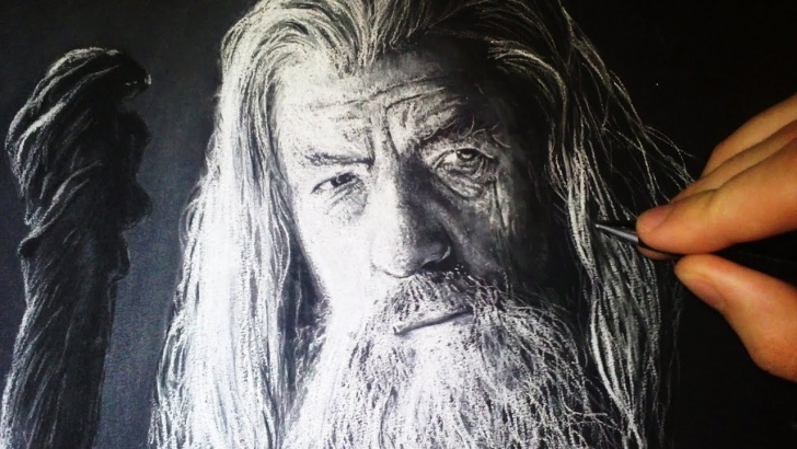 Stunning White Charcoal Drawings Techniques Gandalf - Drawing With White Charcoal Portrait Images