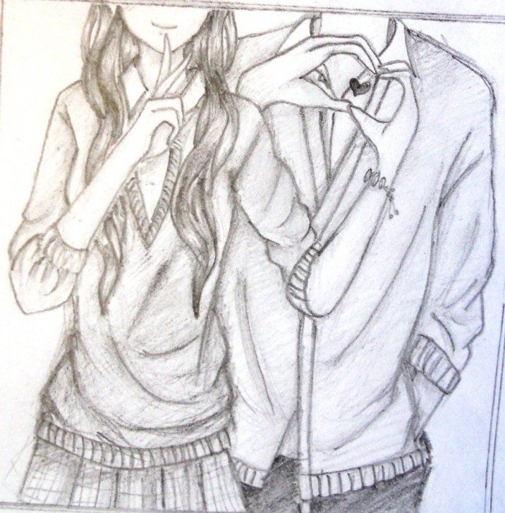 Anime Couples Drawings In Pencil