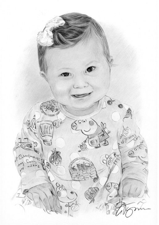 The Best Baby Girl Pencil Drawing Lessons Pencil Drawing Of A Baby Girl By Artist Gary Tymon Image