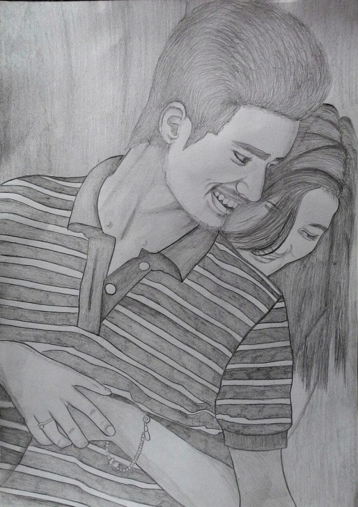 The Best Beautiful Couple Sketch Tutorial Beautiful Couple Drawing At Paintingvalley | Explore Collection Pics