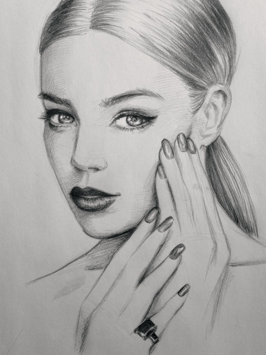 The Best Beautiful Pencil Sketch Drawing Techniques Nails #art #sketch #drawing #makeup #hair #beautiful Pencil Portrait Images