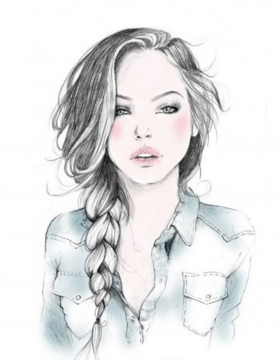 The Best Beautiful Sketches Of Girl for Beginners Free Easy Girl Drawing, Download Free Clip Art, Free Clip Art On Photo