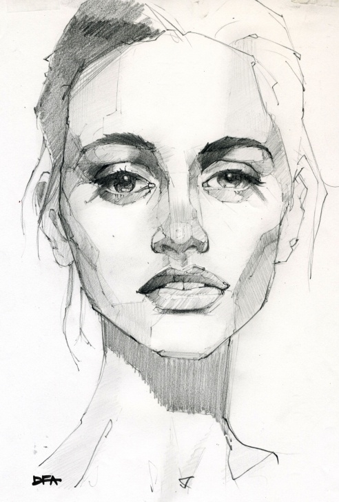 The Best Beautiful Woman Sketch Courses Graphite Portrait Drawing Of Beautiful Woman | Illustrations In 2019 Pics