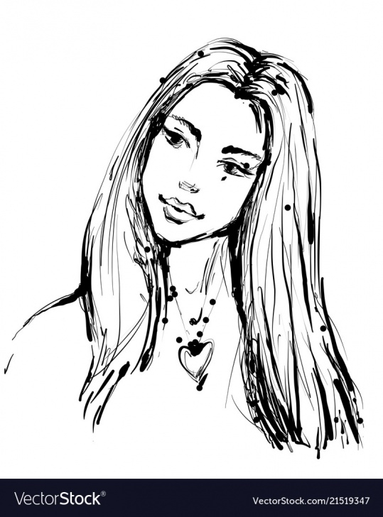 The Best Beautiful Woman Sketch Tutorial Fashion Sketch Of A Young Beautiful Woman In Ink Pic
