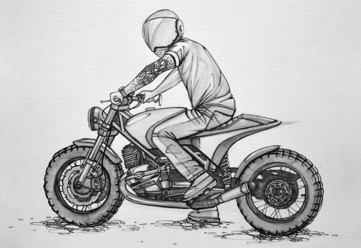 The Best Bike Pencil Drawing Step by Step Motorcycle - Sketchbook (Design Concepts) On Behance | Moto Art Photos