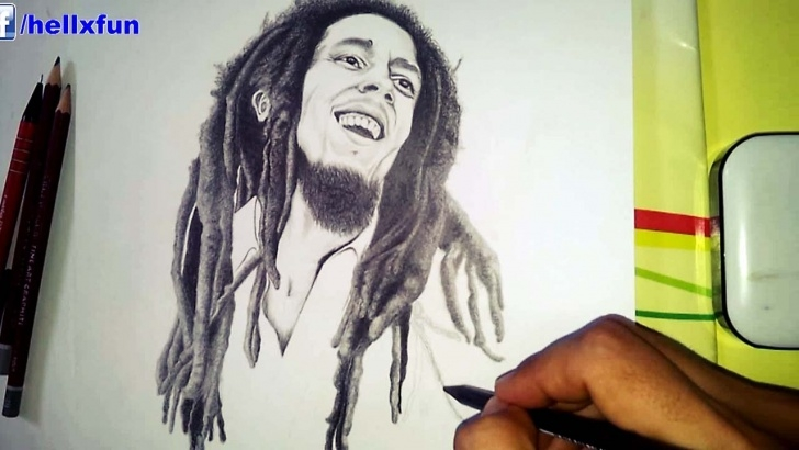 The Best Bob Marley Pencil Drawing Step by Step Bob Marley Drawing - Speed Drawing Bob Marley Picture