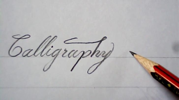 The Best Calligraphy For Beginners With Pencil Simple Pencil Calligraphy | Super Writing With Pencil | Mazic Writer Photo