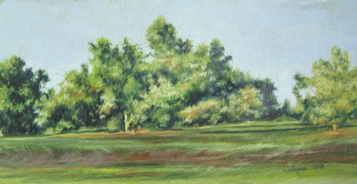 The Best Colored Pencil Landscape Free Original Colored Pencil Landscape Painting Tree Line. $95.00, Via Pictures