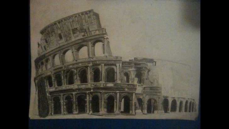 The Best Colosseum Pencil Sketch Techniques for Beginners The Coliseum - Pencil Drawing Picture